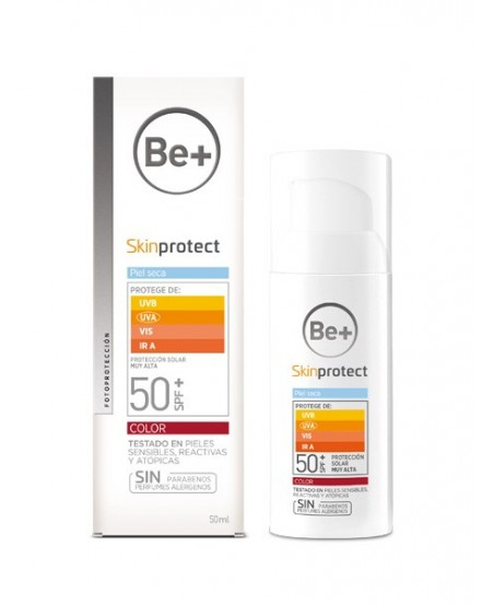 BE+ SKIN PROTECT PIEL SECA SPF50+ COLOR 50 ML