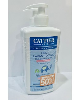 CATTIER PACK GEL BAÑO BEBE 500ML
